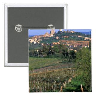 El pueblo de San Gimignano se sienta en el balance Pins