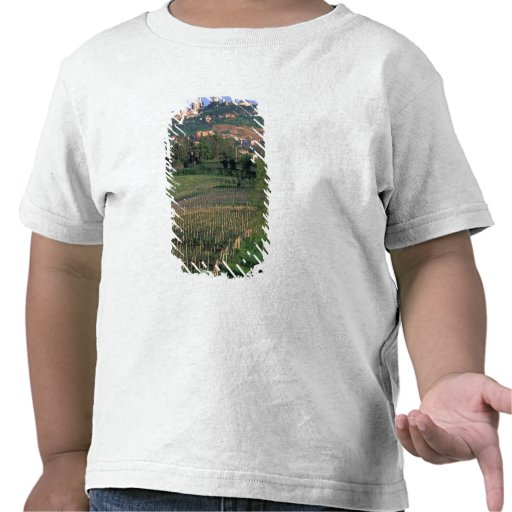El pueblo de San Gimignano se sienta en el balance Camiseta