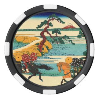 El pueblo de Sekiya en el río de Sumida Fichas De Póquer
