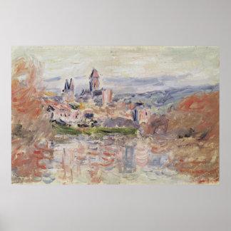 El pueblo de Vetheuil, c.1881 Póster