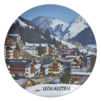 El pueblo famoso de Lech - placa Plato De Comida
