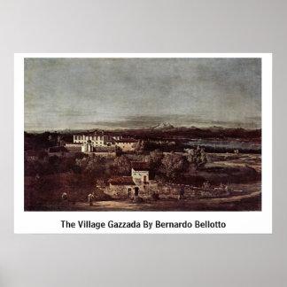 El pueblo Gazzada de Bernardo Bellotto Posters