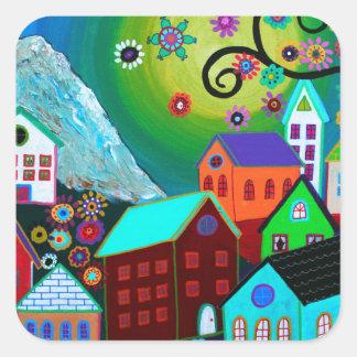 El Pueblo Square Sticker
