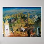 El pueblo, Tesuque, numera uno de George Bellows 1 Póster