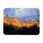 El pueblo toscano de la tierra de Siena, Italia Imanes Flexibles