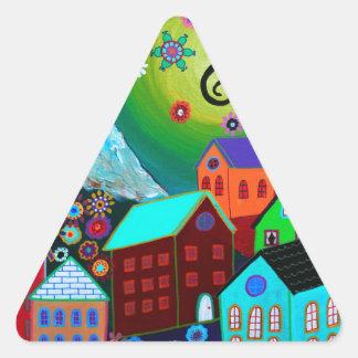 El Pueblo Triangle Sticker