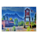 El pueblo, Tubac, tarjeta de felicitación de Arizo