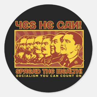 ¡Él puede sí! Camarada Obama Spoof Etiqueta Redonda