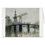 El puente, Amsterdam de Claude Monet Tarjeta De Felicitación