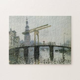 El puente, bella arte de Amsterdam Monet Rompecabeza Con Fotos