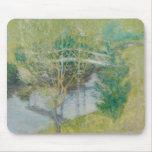 El puente blanco, c.1895 (aceite en lona) alfombrilla de raton