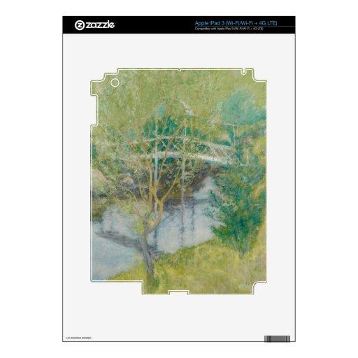 El puente blanco, c.1895 (aceite en lona) iPad 3 pegatina skin