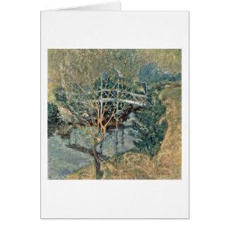 El puente blanco de John Henry Twachtman Tarjeta De Felicitación
