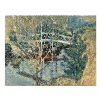 """El puente blanco de Twachtman John Henry Invitación 4.25"""" X 5.5"""""""