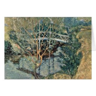El puente blanco de Twachtman John Henry Tarjeta De Felicitación