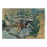 El puente blanco de Twachtman John Henry Tarjetas
