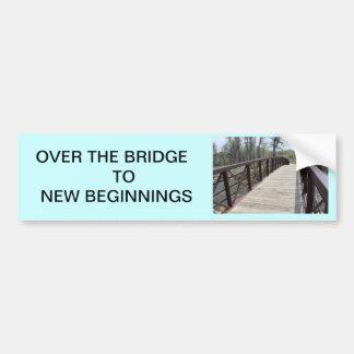 El puente pegatina de parachoque