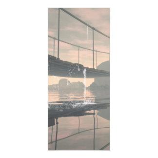 El puente con descensos del agua invitación 10,1 x 23,5 cm