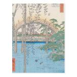 El puente con las glicinias o Kameido Tenjin Postal