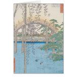 El puente con las glicinias o Kameido Tenjin Tarjeta De Felicitación