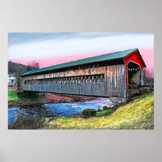 El puente cubierto de las mercancías que pinta la  póster
