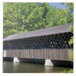El puente cubierto de Stone Mountain en la piedra Teja