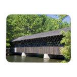 El puente cubierto de Stone Mountain en la piedra Imán Flexible