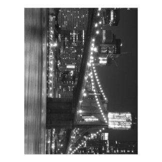 El puente de Brooklyn - blanco y negro Membretes Personalizados