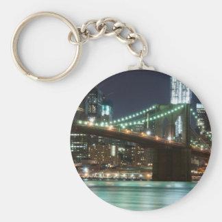 El puente de Brooklyn - color Llavero Redondo Tipo Pin
