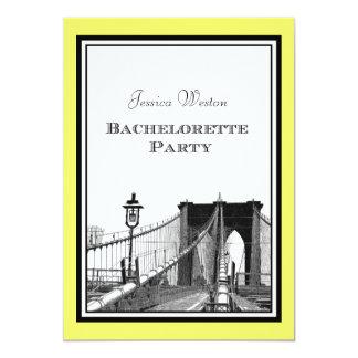 El puente de Brooklyn del horizonte de NYC #1 Invitación 12,7 X 17,8 Cm