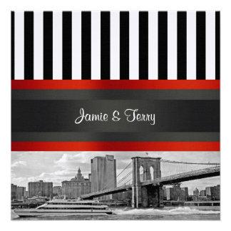 El puente de Brooklyn del horizonte de NYC, boda d Invitaciones Personales