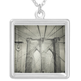 El puente de Brooklyn en blanco y negro, NYC Joyería