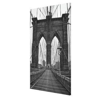 El puente de Brooklyn en New York City Impresión En Lienzo Estirada