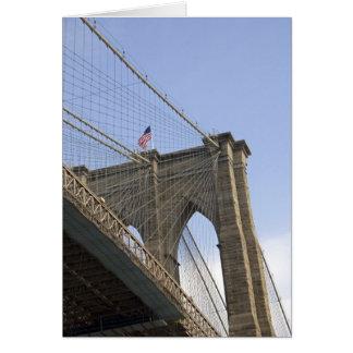 El puente de Brooklyn en New York City, nuevo Tarjeta De Felicitación