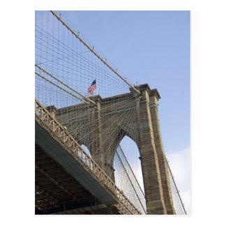 El puente de Brooklyn en New York City, nuevo Tarjeta Postal
