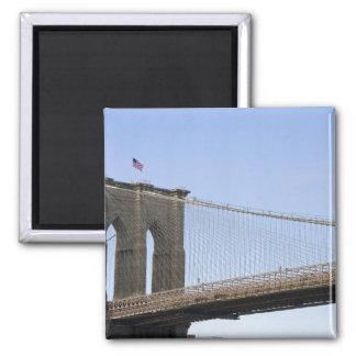 El puente de Brooklyn en New York City, nuevos 2 Imanes Para Frigoríficos
