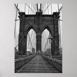 El puente de Brooklyn en New York City Póster