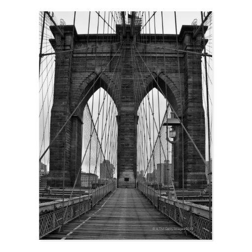 El puente de Brooklyn en New York City Postales