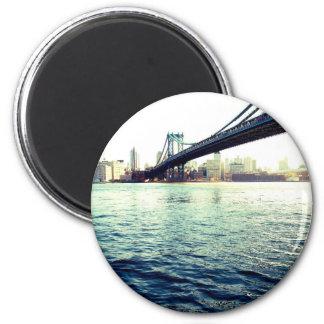 El puente de Brooklyn Imán Redondo 5 Cm