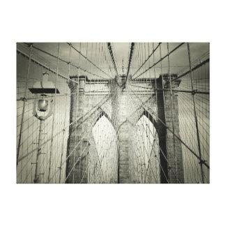 El puente de Brooklyn Impresiones En Lona