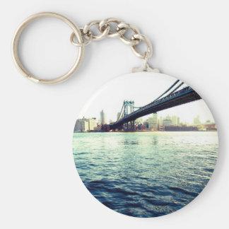 El puente de Brooklyn Llavero Redondo Tipo Pin