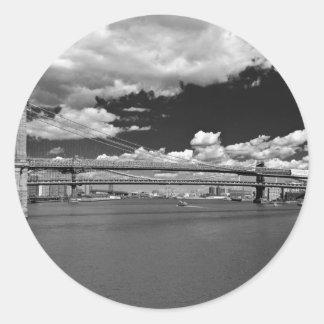 El puente de Brooklyn Pegatina Redonda