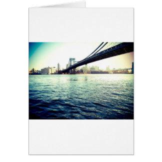 El puente de Brooklyn Tarjeta De Felicitación