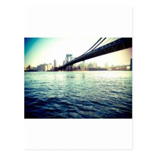 El puente de Brooklyn Tarjeta Postal