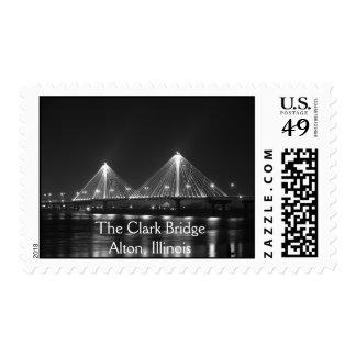 El puente de Clark, Alton, Illinois Franqueo