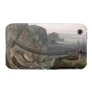 El puente de cuerda cerca del faro, Holyhead, para iPhone 3 Case-Mate Cárcasas