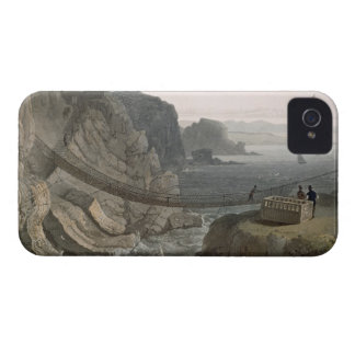 El puente de cuerda cerca del faro, Holyhead, para iPhone 4 Carcasa