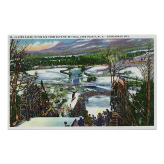 El puente de esquí saca de la colina olímpica del  poster