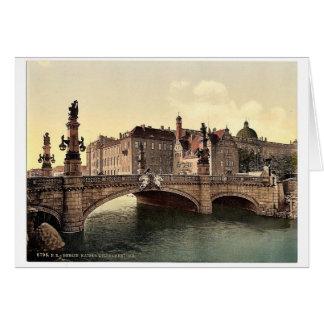 El puente de Guillermo del emperador, obra clásica Felicitaciones