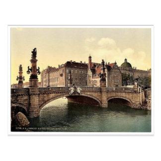 El puente de Guillermo del emperador, obra clásica Postal